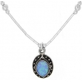 #0282 Hõbedast ripats opaaliga (koos ketiga)
