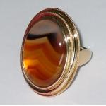 #1956 Eksklusiivne ja massiivne kuldsõrmus agaadiga
