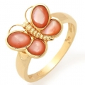 #1976 gold ring with pearls