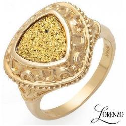 #1981 Kuldsõrmus säbrulise kuldse agaadiga