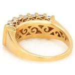 #1989 Kullast sõrmus teemantidega