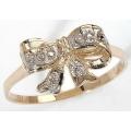 #2010 Kullast teemantitega sõrmus