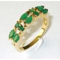#2704 Kuldsõrmus smaragdidega