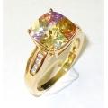 #2851 Kuldsõrmus eri värvi tsirkoonidega (Stylish Collection`ist)