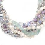 #6407 Kaelakee pärlitega ja kvartsidega