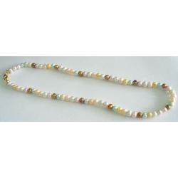 #6427 Kaelakee eri värvi magevee pärlitest