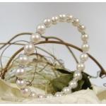 #6434 Hõbedast ja pärlitest käevõru