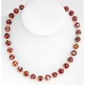 #6508 Erinevat värvi klaasist pärlitega kaelakee