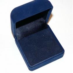 #9922 Kinkekarp sõrmusele (tumesinine sametine)