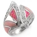 #5991 Hõbesõrmus opaaliga ja tsirkoonidega (Charmant Collection`ist)